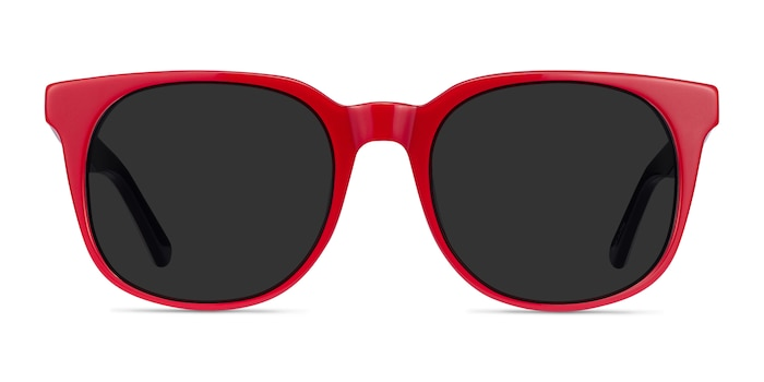 1776 Red & Navy Acetate Sunglass Frames from EyeBuyDirect