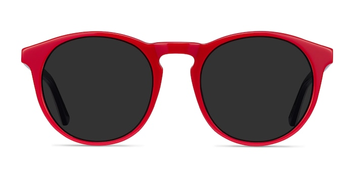 Monument Red & Navy Acetate Sunglass Frames from EyeBuyDirect