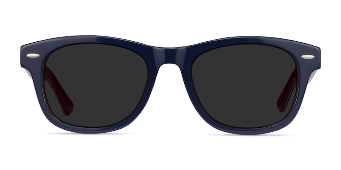 Parade Navy & Red Acetate Sunglass Frames from EyeBuyDirect