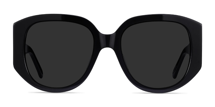 Bianca Black Acetate Sunglass Frames from EyeBuyDirect