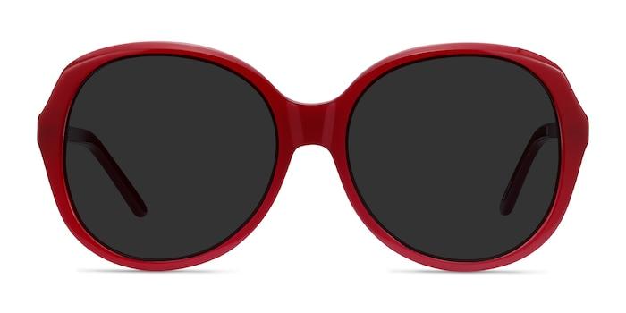 Sheila Burgundy Acetate Sunglass Frames from EyeBuyDirect