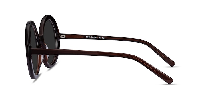 Tina Coffee Acetate Sunglass Frames from EyeBuyDirect