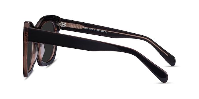Claudette Dark Coffee Acetate Sunglass Frames from EyeBuyDirect