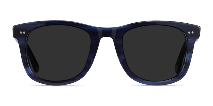 Nevada Blue Striped Acetate Sunglass Frames from EyeBuyDirect