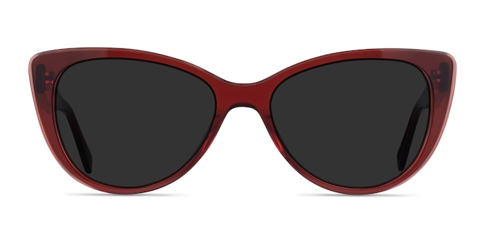 Lamarr Clear Red Acetate Sunglass Frames from EyeBuyDirect