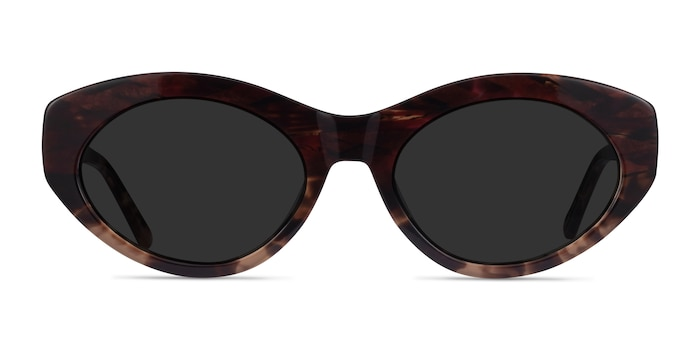 Fabulous Striped Tortoise Acetate Sunglass Frames from EyeBuyDirect