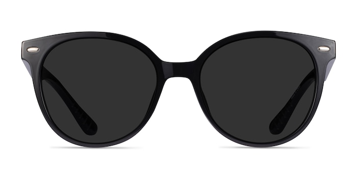 Domino Black Plastic Sunglass Frames from EyeBuyDirect