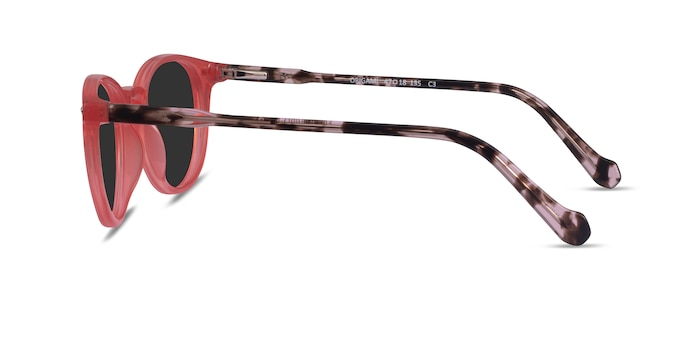 Origami Coral Tortoise Acetate Sunglass Frames from EyeBuyDirect