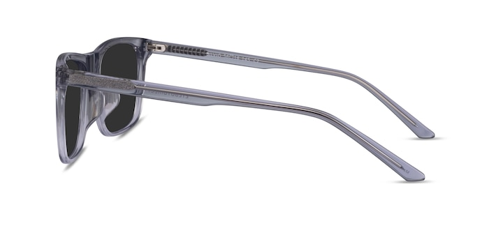 Silvio Clear Gray Acetate Sunglass Frames from EyeBuyDirect