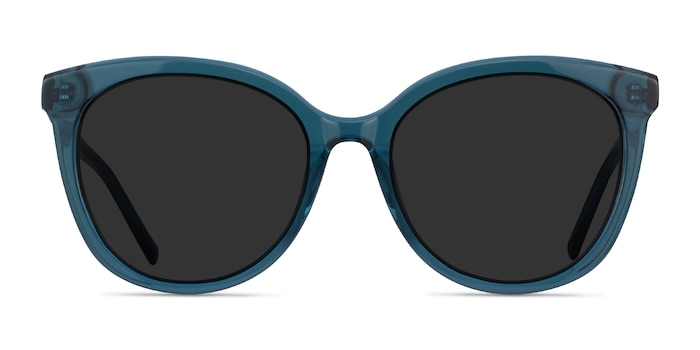 Cinematic Clear Teal Acetate Sunglass Frames from EyeBuyDirect