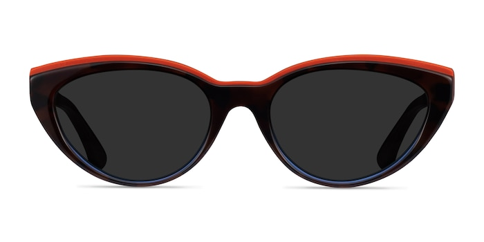 Palm Beach Red Tortoise Blue Acetate Sunglass Frames from EyeBuyDirect