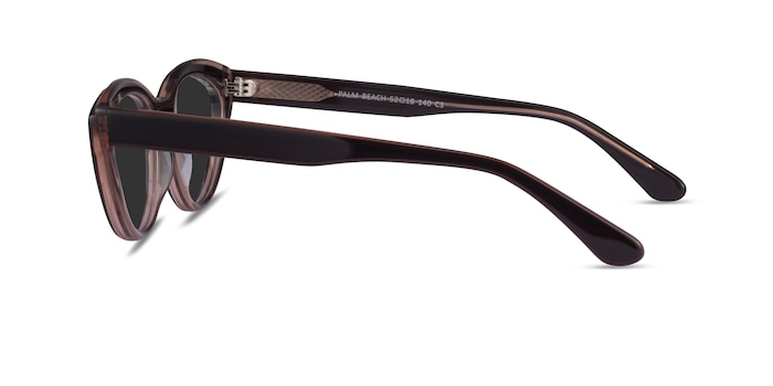 Palm Beach Champagne Brown Acetate Sunglass Frames from EyeBuyDirect