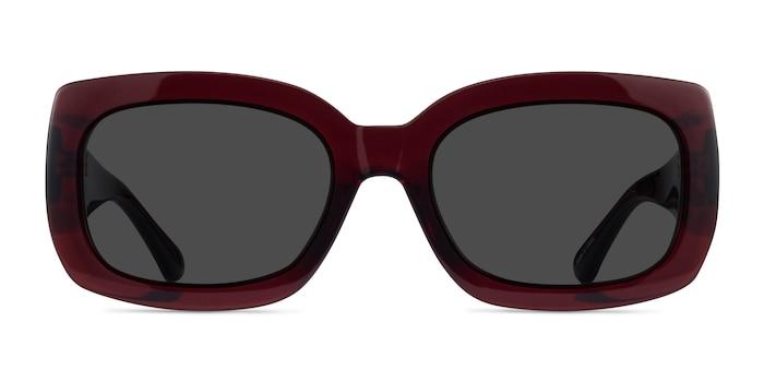 Courteney Burgundy Acetate Sunglass Frames from EyeBuyDirect