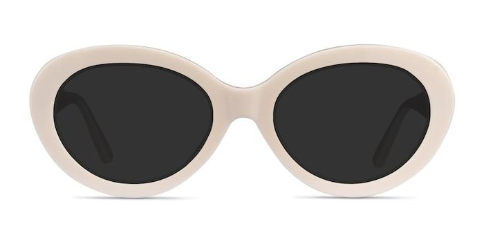 Alexandra Beige Acetate Sunglass Frames from EyeBuyDirect
