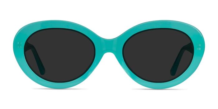 Alexandra Teal Acetate Sunglass Frames from EyeBuyDirect
