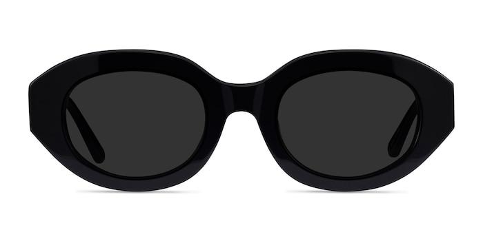 Swan Black Acetate Sunglass Frames from EyeBuyDirect