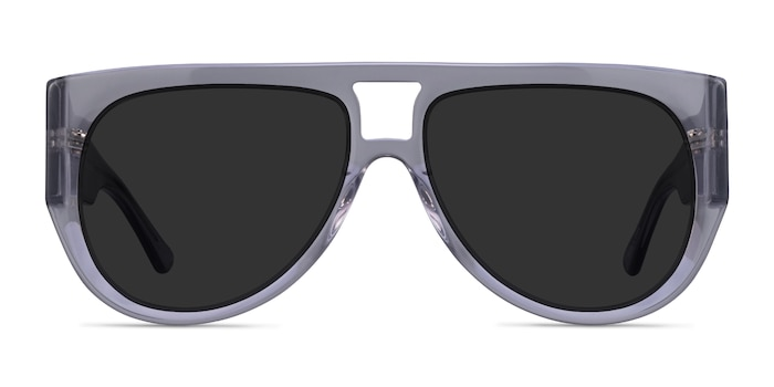 Southwest Clear Gray Acetate Sunglass Frames from EyeBuyDirect