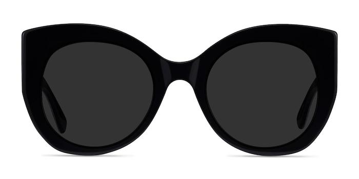 June Black Acetate Sunglass Frames from EyeBuyDirect