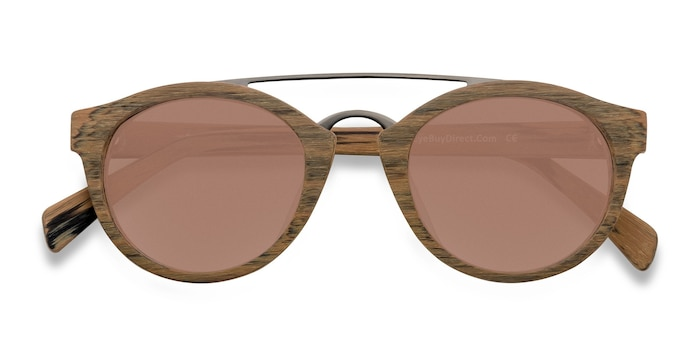 Brown/Striped Enzo -  Metal Sunglasses