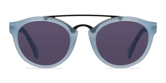 Enzo Clear/Blue Acetate-metal Sunglass Frames from EyeBuyDirect
