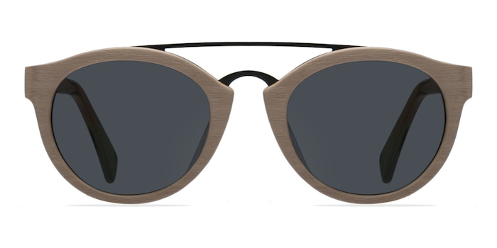 Enzo Light Brown Acetate-metal Sunglass Frames from EyeBuyDirect