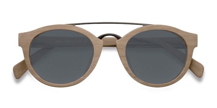 Light Brown Enzo -  Metal Sunglasses