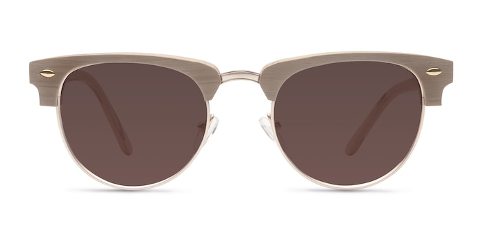 The Hamptons Oak & Silver Acetate-metal Sunglass Frames from EyeBuyDirect