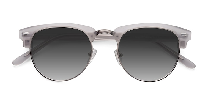 Clear Silver  The Hamptons -  Vintage Metal Sunglasses