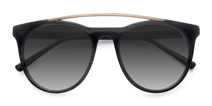 Black Miami Vice -  Metal Sunglasses