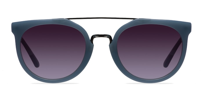 Bali Blue/Silver Acetate-metal Sunglass Frames from EyeBuyDirect
