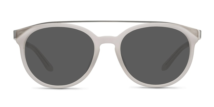 Morning Breeze Matte White Acetate-metal Sunglass Frames from EyeBuyDirect