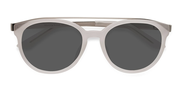 Matte White Morning Breeze -  Metal Sunglasses