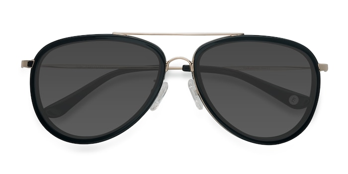 Black Duke -  Vintage Metal Sunglasses