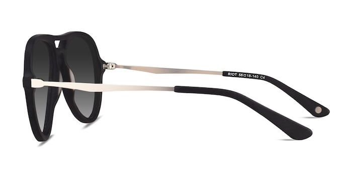 Riot Matte Black Acetate-metal Sunglass Frames from EyeBuyDirect