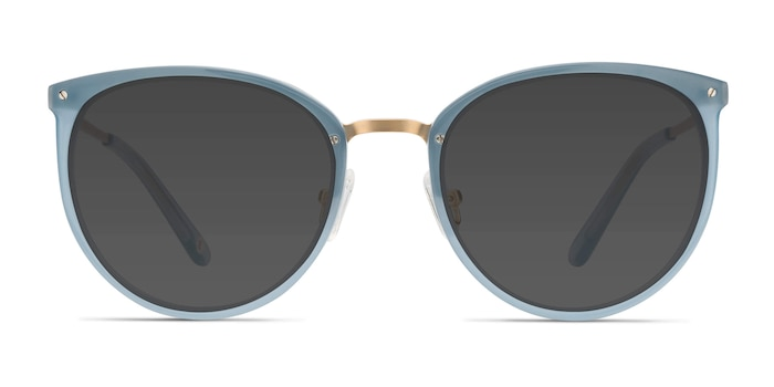 Crush Frosted Blue Acetate-metal Sunglass Frames from EyeBuyDirect