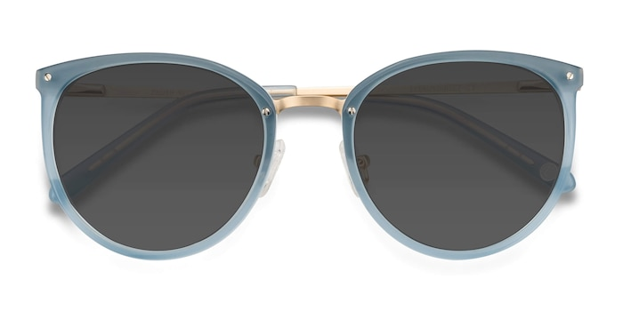 Frosted Blue Crush -  Metal Sunglasses