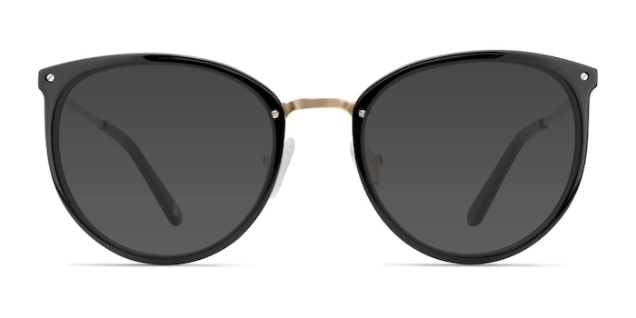 Crush Black Acetate-metal Sunglass Frames from EyeBuyDirect