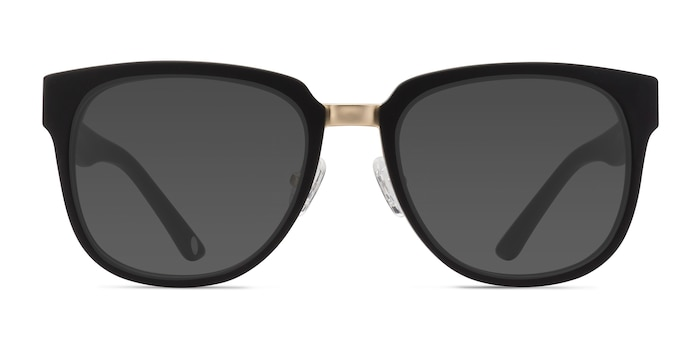 Haute Couture Matte Black Acetate-metal Sunglass Frames from EyeBuyDirect