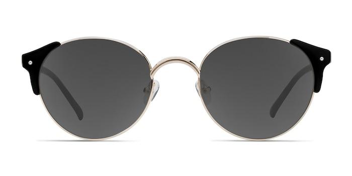 Miaou Golden Black Plastic-metal Sunglass Frames from EyeBuyDirect