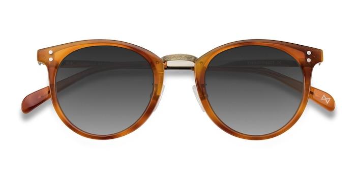 Cinnamon Sun Nostalgia -  Vintage Metal Sunglasses