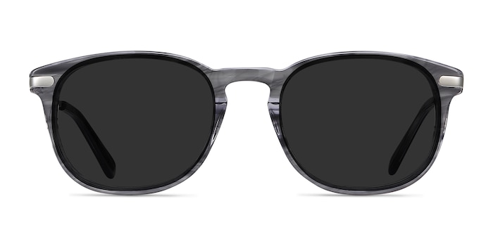 Council Gray Striped Acetate-metal Sunglass Frames from EyeBuyDirect