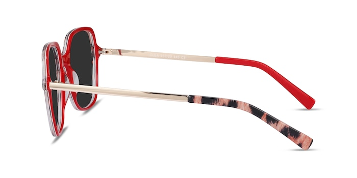 Olga Leopard & Gold Acetate-metal Sunglass Frames from EyeBuyDirect