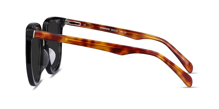 Shannon Black & Tortoise Acetate Sunglass Frames from EyeBuyDirect