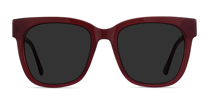 Erica Burgundy Acetate-metal Sunglass Frames from EyeBuyDirect
