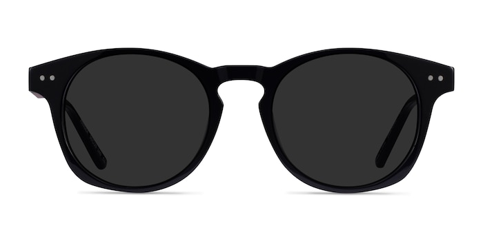 Pangea Black Acetate Sunglass Frames from EyeBuyDirect