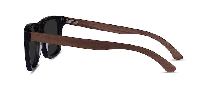 Grow Black & Wood Wood-texture Sunglass Frames from EyeBuyDirect