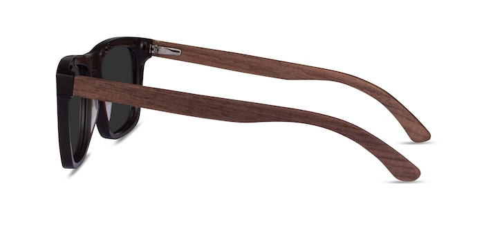 Grow Dark Brown & Wood Wood-texture Sunglass Frames from EyeBuyDirect