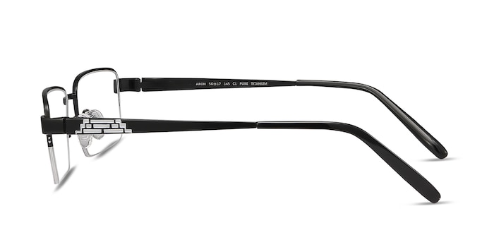 Aron Black Titanium Eyeglass Frames from EyeBuyDirect
