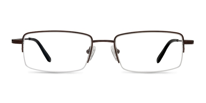 Graphic  Coffee  Titanium Eyeglass Frames from EyeBuyDirect