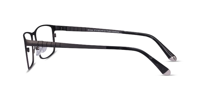 Driven Gunmetal Titanium Eyeglass Frames from EyeBuyDirect
